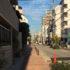 山本通(山手タワーズ前、西から東方向へ眺め)