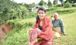村で出会ったダリットの女性。