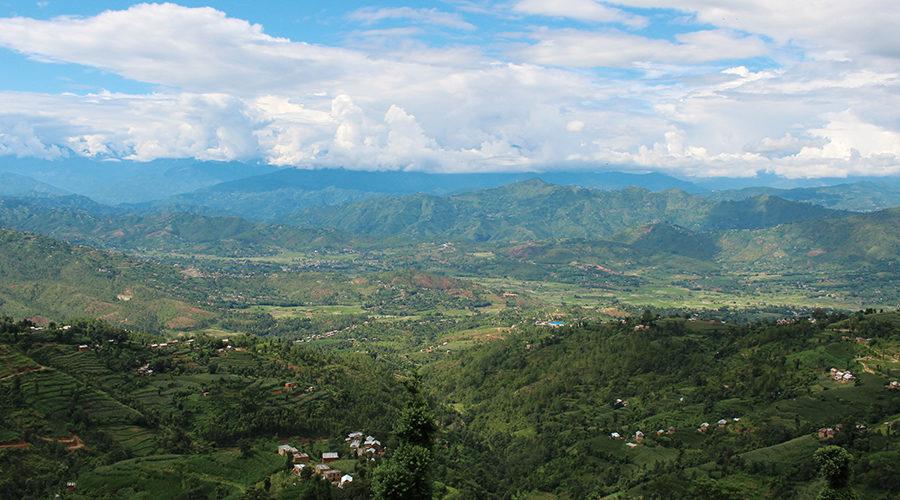 ネパールの雄大な自然。